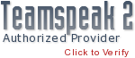 Authorized Teamspeak 2 Hosting