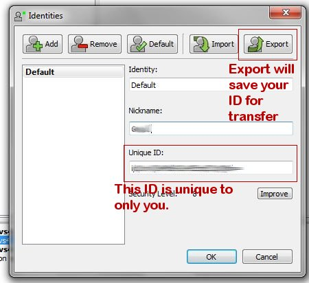 Export your ID